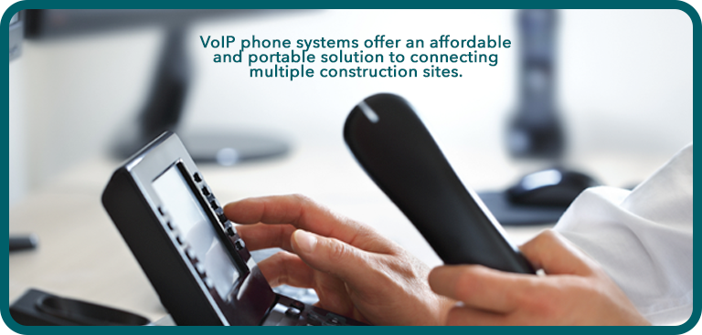 VoIP telephone handset used in company office