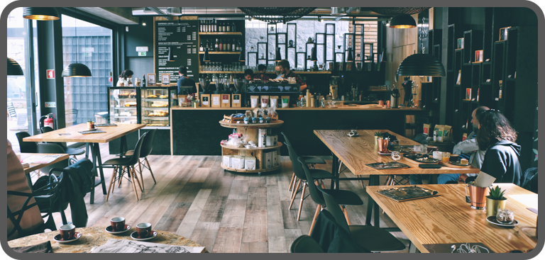 A modern coffee shop business will typically offer broadband internet to customers