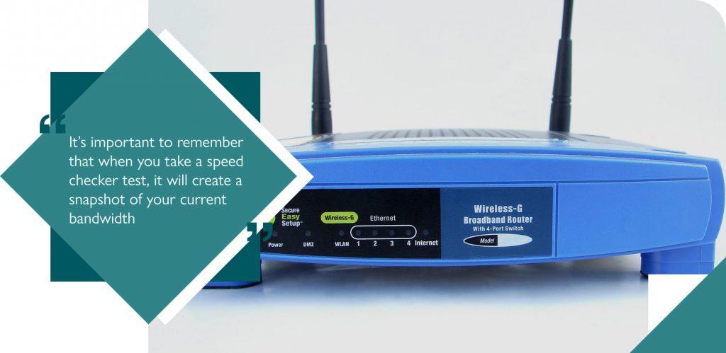 Blue wireless broadband router