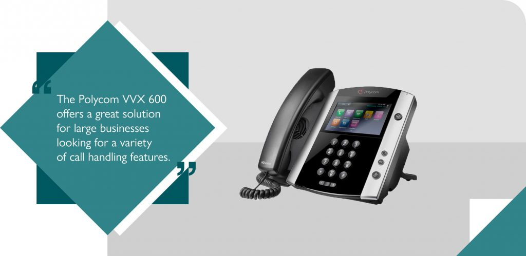 The Polycom as best VoIP phone for 2020 large businesses